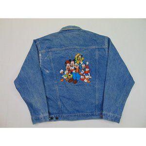 Disney Men M Mickey Mouse Vintage Denim Jacket 90s